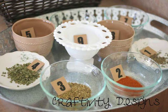 I would rock the spice identification game... Craftivity Designs: Vintage Bridal Shower Games (& Free Printables)