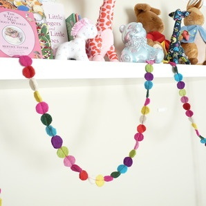 Felt circle garland by Happy as Larry Designs