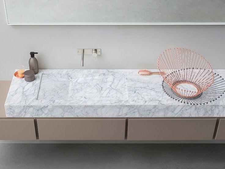 D TAGLIO Lavabo en marbre de Carrara by Rexa Design design Susanna Mandelli