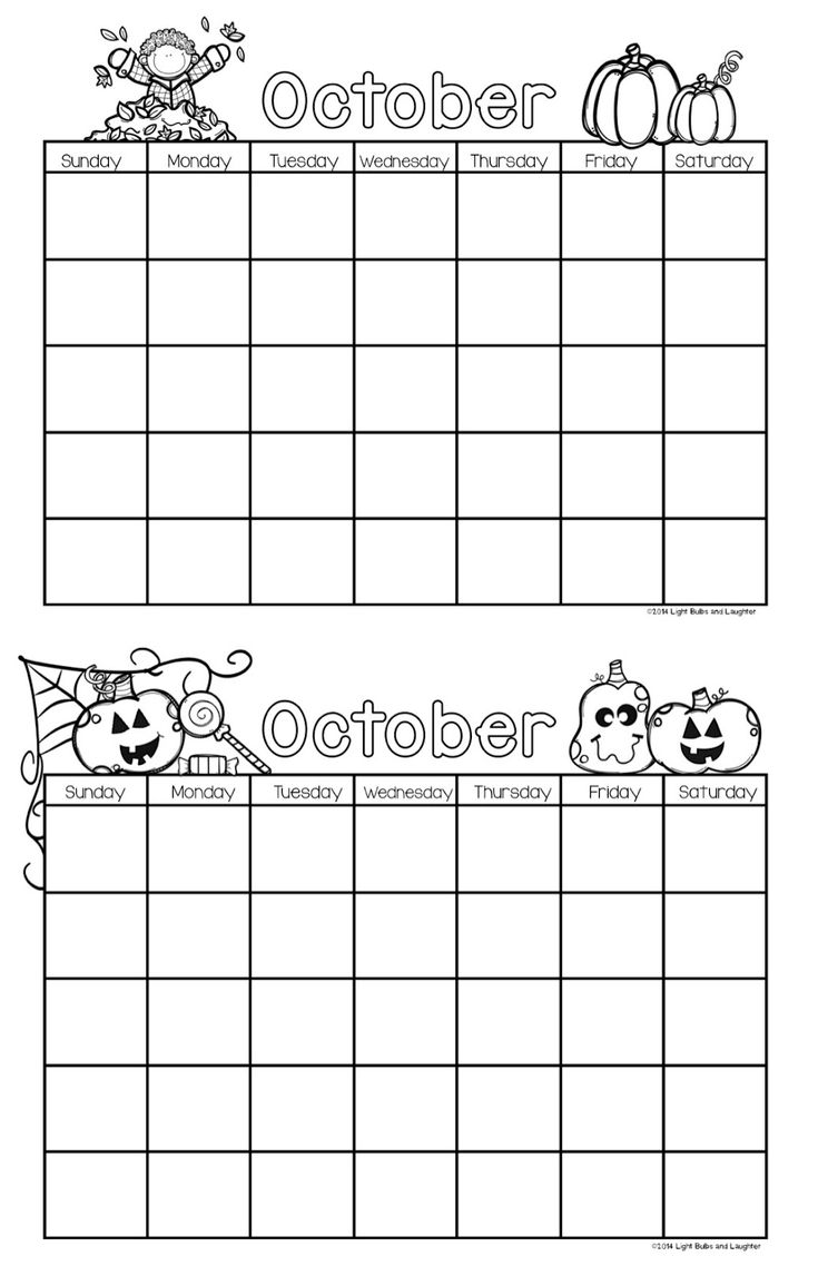 October Calendar Kindergarten : Best calendar images on pinterest free printables