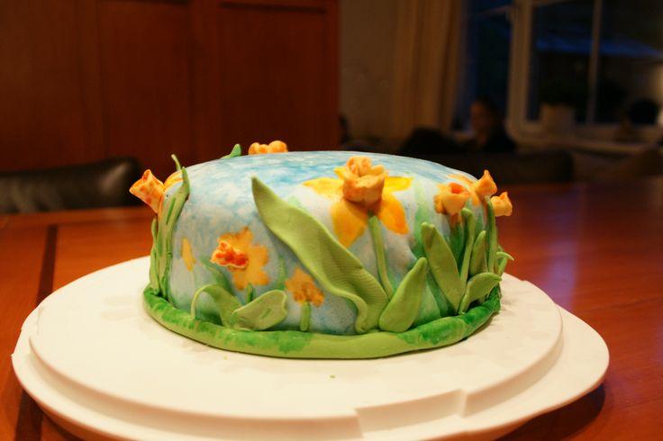 3D narcissen taart