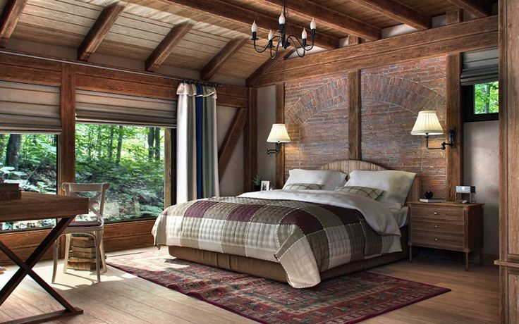 I like this wall for my bedroom. I like the color of the wood and brick for the bedroom and living room.
