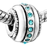 Pugster Circle March Birthstone Style Pandora Bead