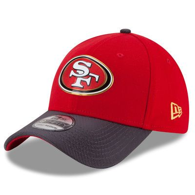 San Francisco 49ers New Era Gold Collection On Field 39THIRTY Flex Hat - Scarlet/Graphite