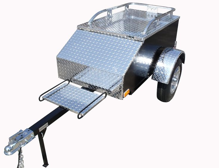 Pull Behind Motorcycle Trailer XL - Aluminum
