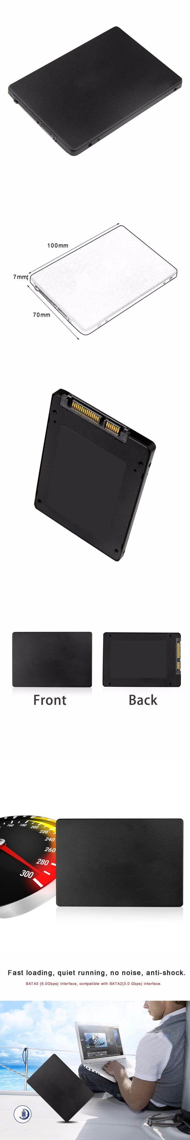 """2.5"""" SSD SATA3.0 Hard Disk 120GB High Speed SSD Hard Drive Disk Disc Solid State Disks For Desktop Laptop Computer PC"""