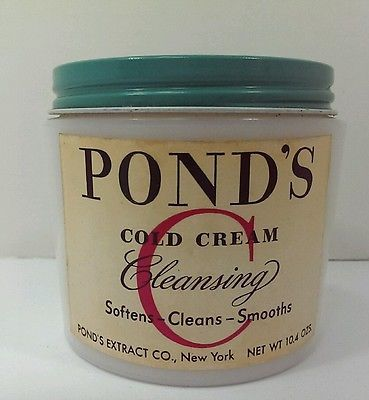 PONDS-Cold-Cream-Vintage-PONDS-Milk-Glass-Jar-for-Display-General-Store-RARE