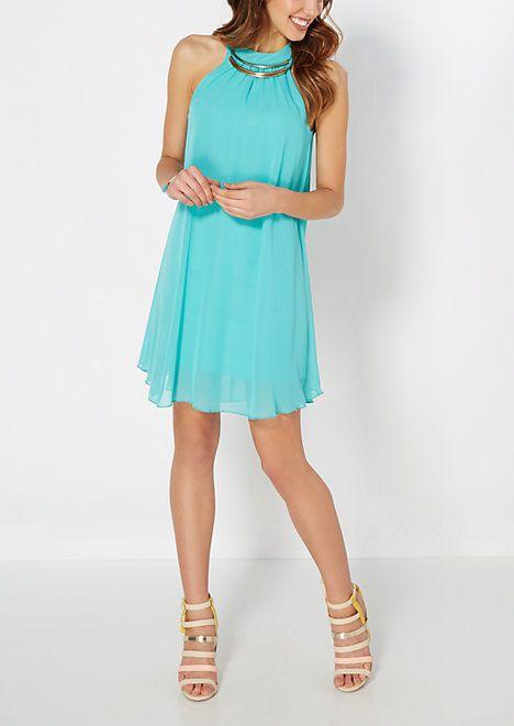 Turquoise Triple Bar Shift Dress | rue21