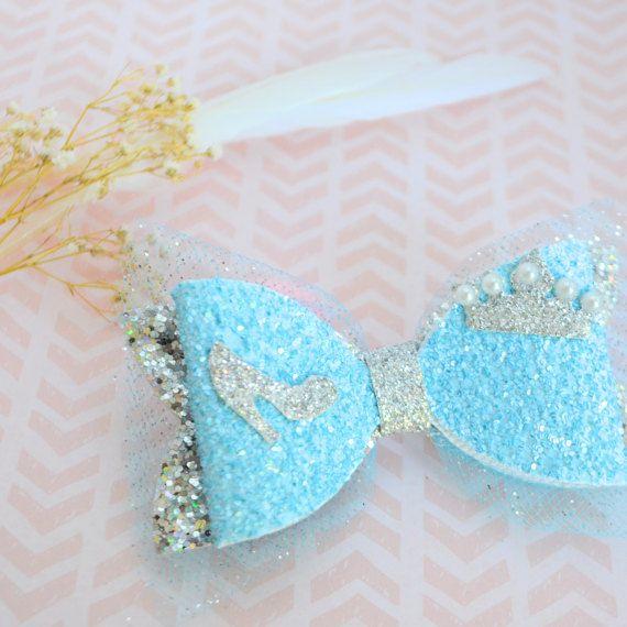 Princess Cinderella bow hair clip Disney princess bow