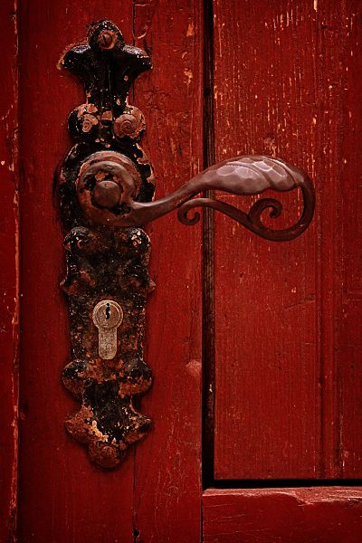 They swapped places behind the red door with the easy fluidity of two people who knew each other's movements before they were made.  Lead me to your door.
