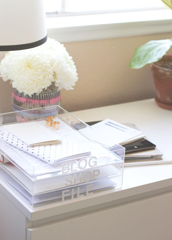 quick paper tray organizers // diy — A Fabulous Fete