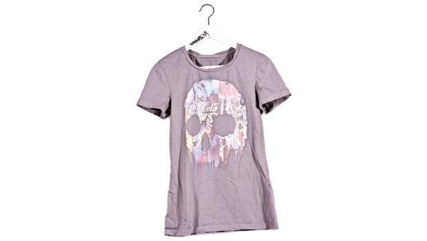 T-shirt color fango con teschio, Kenny Random