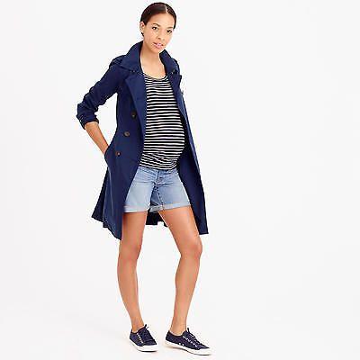 NWT J Crew Womens Maternity Denim Pull-On Shorts Sz 24 Patina Wash C3416 $89.50