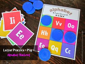 Relentlessly Fun, Deceptively Educational: Printable Alphabet Blackout Game