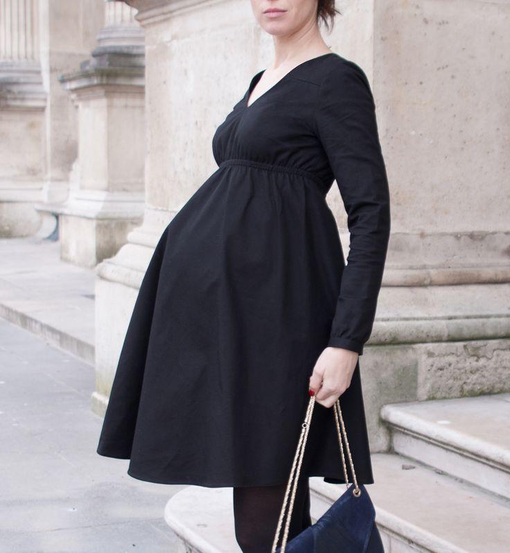 vignette robe grossesse femme enceinte be pretty patron couture couture robes pinterest. Black Bedroom Furniture Sets. Home Design Ideas