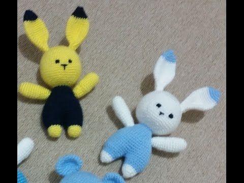 (Amigurumi ) Örgü Oyuncak Tavşan Yapımı 2 (video kalitesi için çok özür dilerim ) - YouTube
