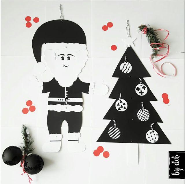 bijdeb: DIY Wiebel Kerstman en Kerstboom...