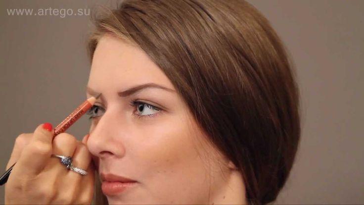 как сделать тонкие округлые стервозные  брови