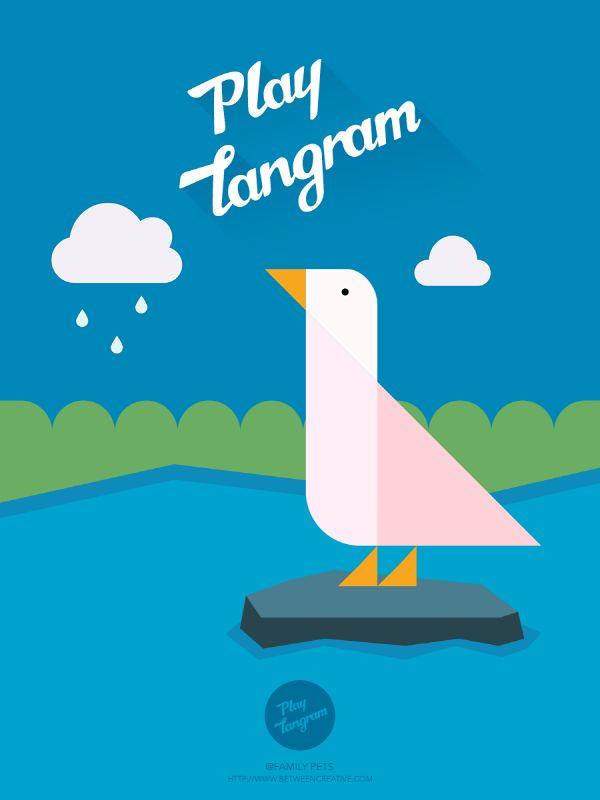 inspiring_ Mobile App #playtangram #Colorful #Modern #Minimal #ios #iphone
