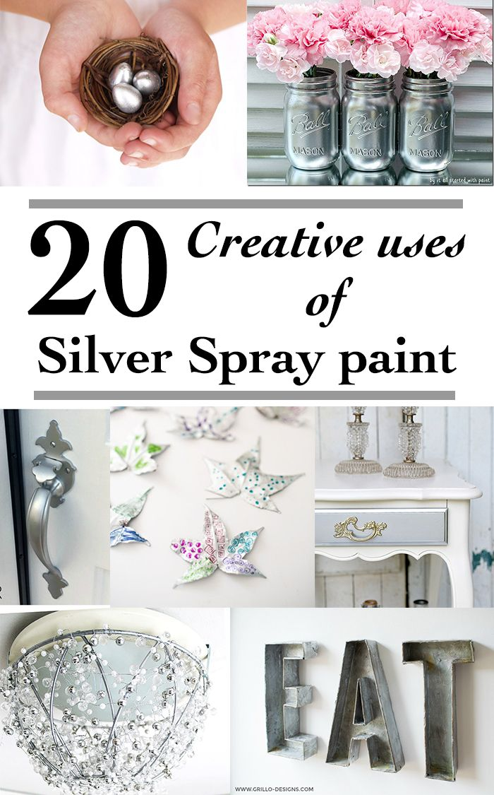 20 fun ways to use silver spray paint | DIY Silver spray paint home decor ideas