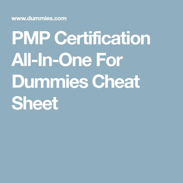 pmp certification all in one for dummies pdf