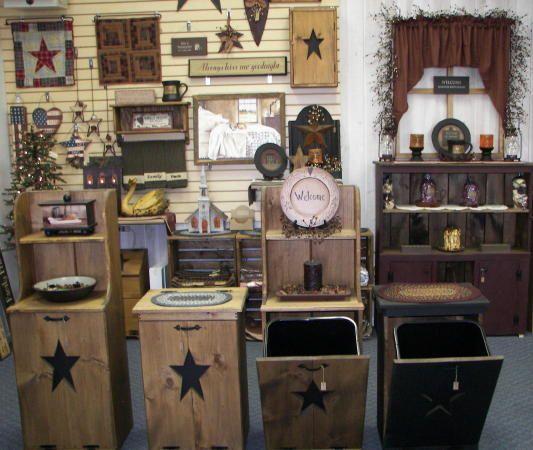 Primitive Wooden Kitchen Signs: 17 Best Images About Primitive Trash Can Storage On