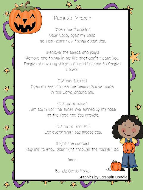Pumpkin prayer. Did this in children's church. So neat! @Dianne Miller - - thought you might save this for Sunday school.