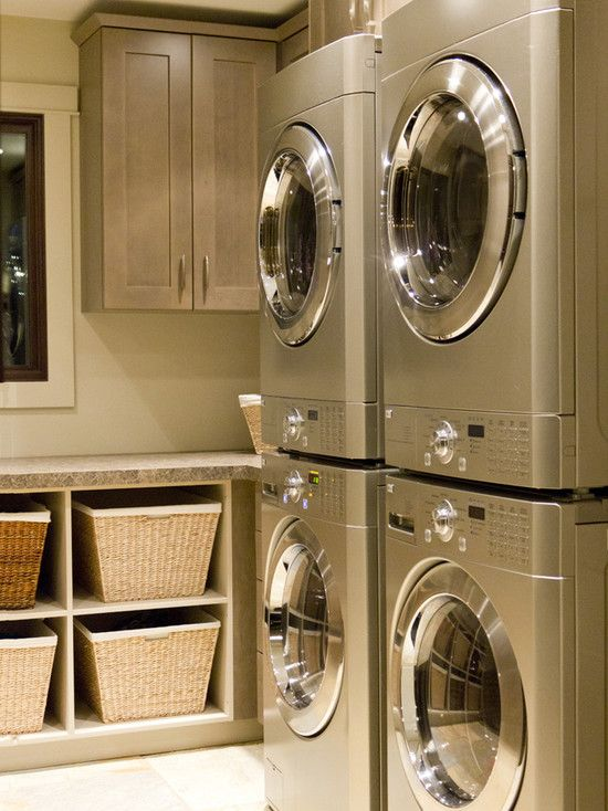 11 best laundry double washer dryer images on Pinterest  Laundry rooms Laundry baskets and