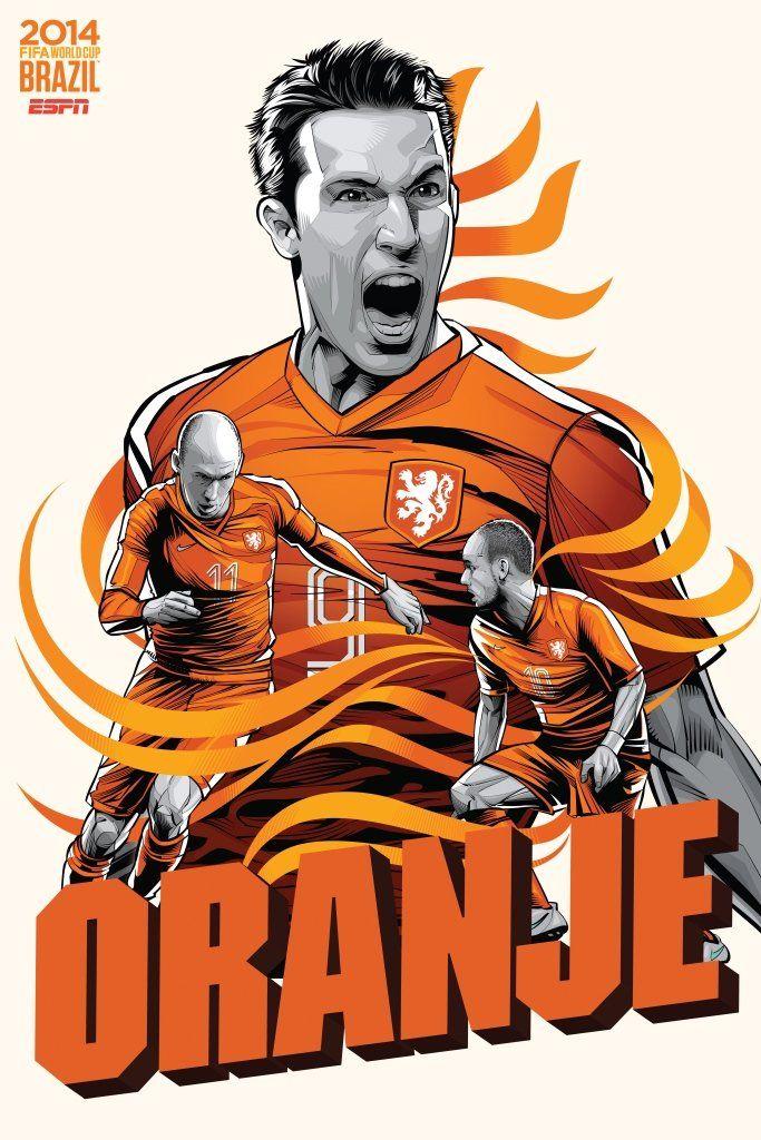 Netherlands #soccer #poster