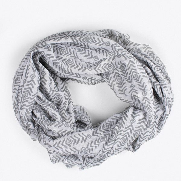 Block Print Aztec Scarf (1 290 UAH) ❤ liked on Polyvore featuring accessories, scarves, aztec scarves, cotton shawl and cotton scarves