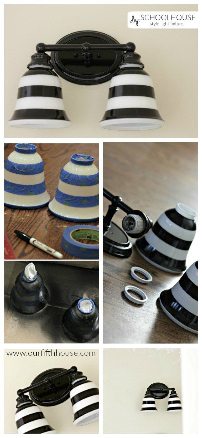 89 best light it up images on pinterest primer spray paint spray diy schoolhouse light fixture arubaitofo Choice Image
