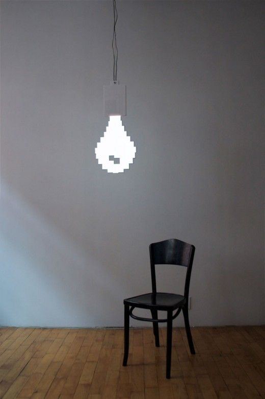 Pixel bulb!: Trav'Lin Lights, Electronics Paper, Looplight Lamps, Laundry Rooms, Lights Bulbs, Pixel Bulbs, Lightbulbs, Pixel Art, Marcus Tremonto