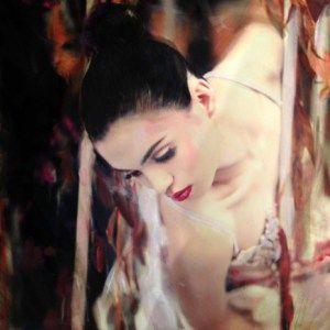 Valentine's Day gift idea art, #valentinesday original artwork by William Oxer  #valentines #valentinesdaygift #giftidea #art #painting #gifts #originalgifts #uniquegifts #affordableart #beautiful #beautifulart #woman #portrait #fineartseen