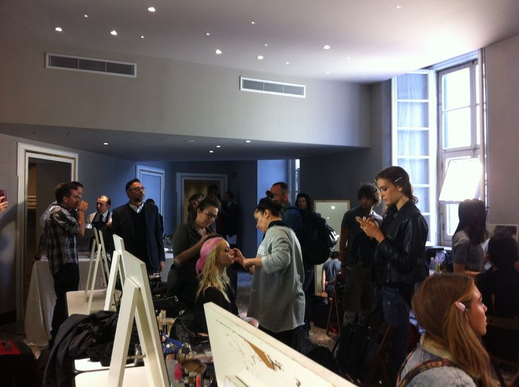 #MFW2015 September Season Spring - Summer 2016 #urbanprod #ontherunway #roccobarocco #fashionshow #backstage