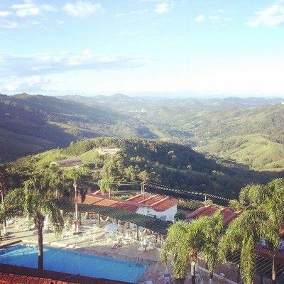 View from Hotel Fazenda Vale do sol in Serra Negra, SP, Brazil popular with Asian people.