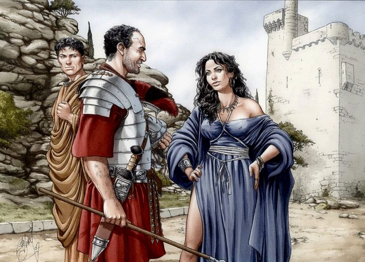 Roman legion with a whore
