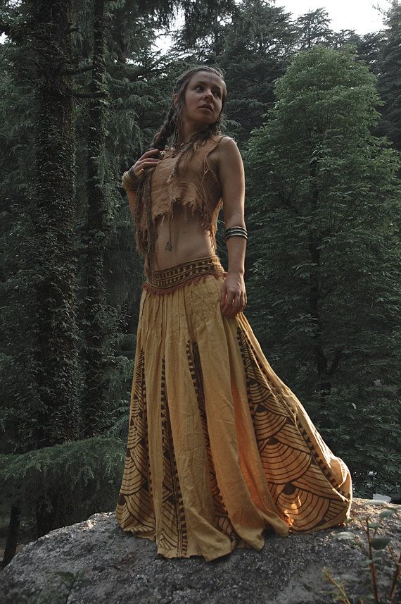Gypsy Dancer Tribal Long skirt with ASO free by AnuttaraCrafts