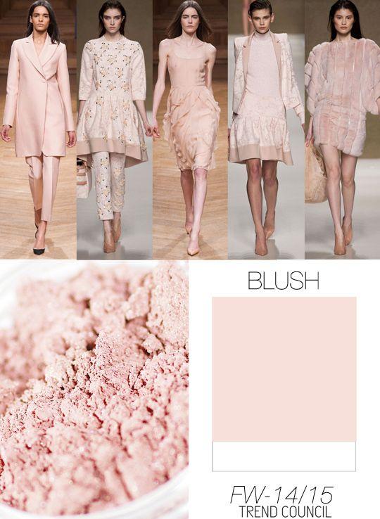 FW 2014-2015 color trend blush