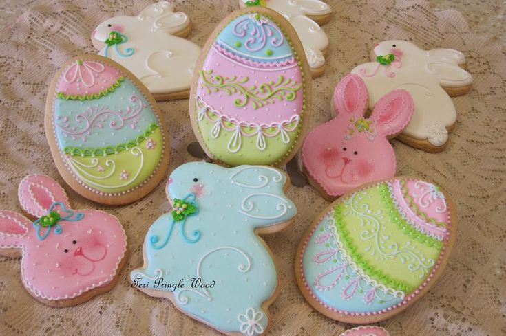 Teri Pringle Wood once again creates graceful Easter eggs and bunnies in pastel Spring colors. Posted on Cookie Connection