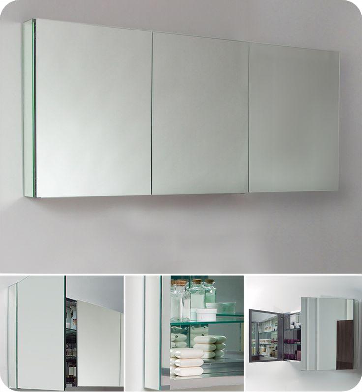 1000 ideas about medicine cabinet mirror on pinterest medicine cabinets bathroom medicine for Fresca 60 wide bathroom medicine cabinet w mirrors