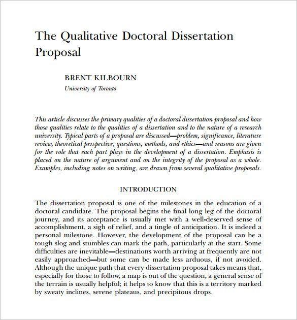 Proposal For Dissertation Writing Websites Best