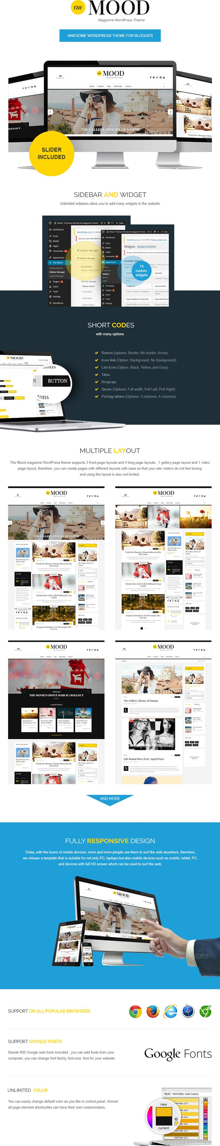 the mood WordPress theme
