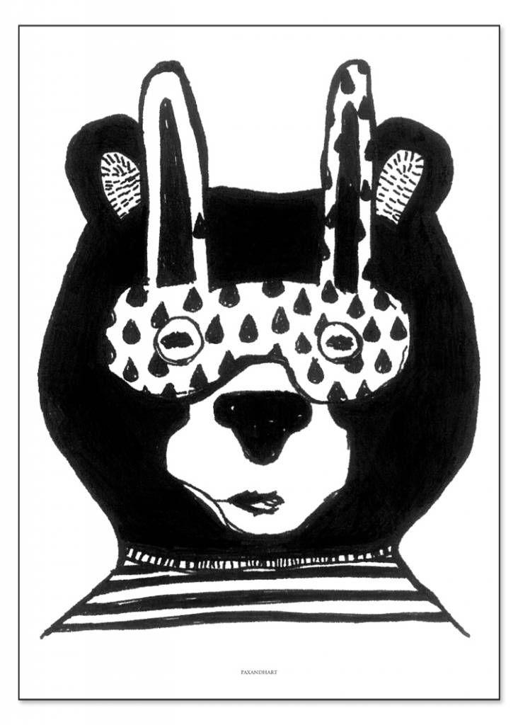 poster beer vernon pax & hart 50x70cm - Mevrouw Aardbei