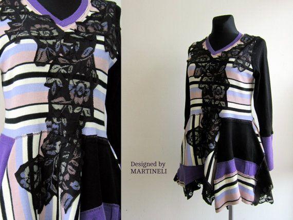 Hippie Boho Dress Recycled Dress Hippie Tunic by MARTINELI on Etsy