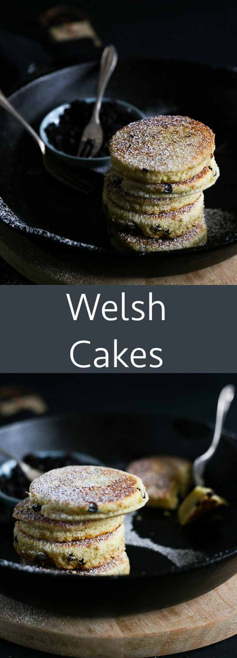 Welsh cakes are so easy to make from scratch, and you don't even need an oven to bake them! These round little cakes - made of flour, sugar, butter and dried fruits - are traditionally eaten around tea-time, but we also love to eat them for Sunday breakfast.