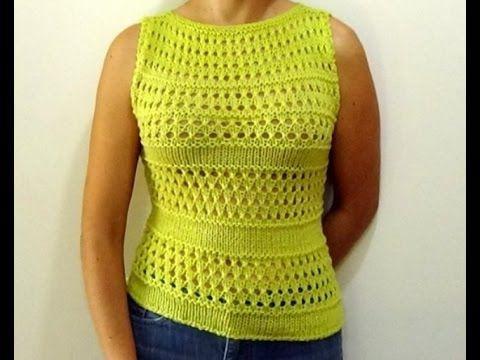 Como Tejer Blusa/Top Primavera-Spring Knitted Top 2 Agujas (269)
