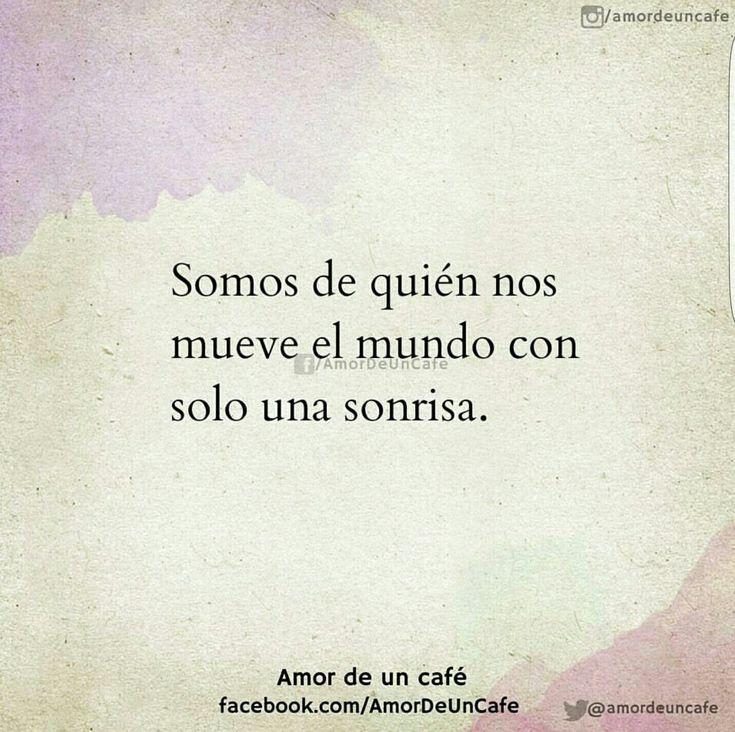 Sólo una sonrisa!! #Frasesromanticas