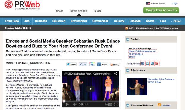 Sebastian Rusk. Social Media Strategist. Event Emcee. Conference Emcee.