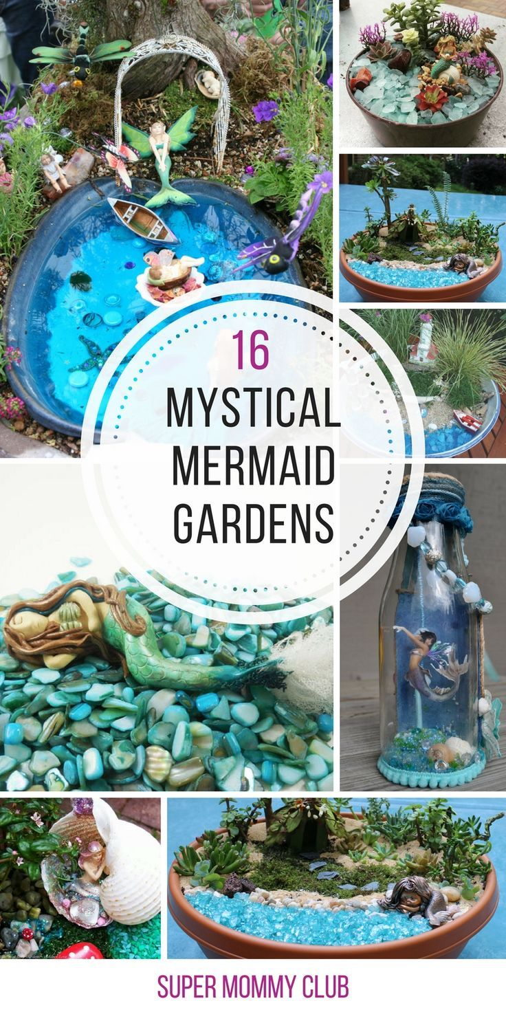 Loving these mermaid garden ideas - now we can make sea fairy gardens in our planters!