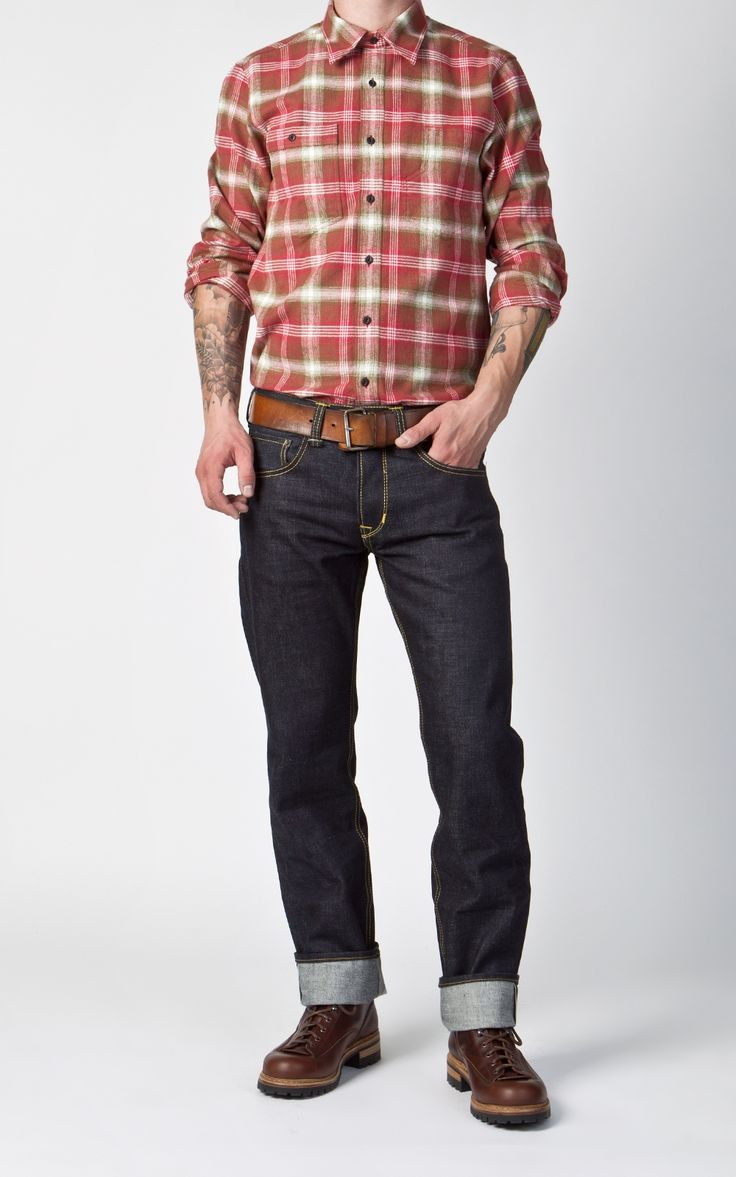 Yellow flannel outfits  Pike Brothers  Roamer Shirt Brown Flannel  Shirts Products and